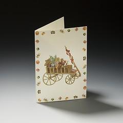 Weihnachtskarte Leiterwagen