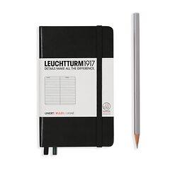 Leuchtturm1917 Notizbuch A6 liniert Schwarz