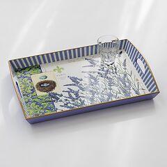 Decoupage Tablett Lavendel