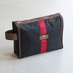 Otis Batterbee Wash Bag Grand Tour Schwarz mit Rot