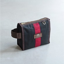 Otis Batterbee Wash bag Grand  Tour S Schwarz mit Rot