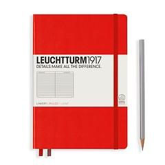 Leuchtturm1917 Notizbuch A5 liniert Rot