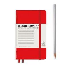 Leuchtturm1917 Notizbuch A6 liniert Rot