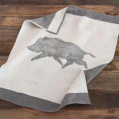 Geschirrhandtücher Jagdmotive Wildschwein Grau