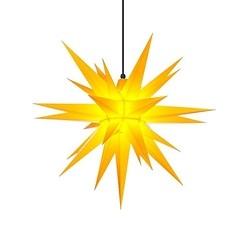 Herrnhuter Stern aus Kunststoff Gelb