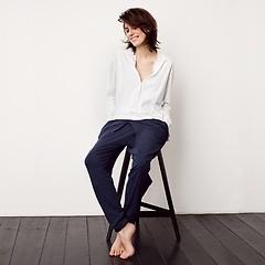 Sunday in Bed Shirt Noemi Langarm Grau S