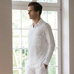 Sunday in Bed Pyjamashirt Morris Weiß