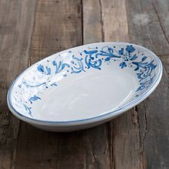 Ruggeri Ovale Platte - Adelasia Blu Ø 36 cm