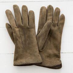 Herren Handschuh aus Ziegenleder Beige Gr. 7,5