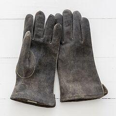Herren Handschuh aus Ziegenleder Grau Gr. 7,5