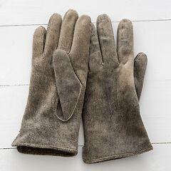 Herren Handschuh aus Ziegenleder Schlamm