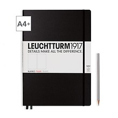 Notizbuch A4+ Master Slim Blanko Schwarz