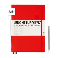 Leuchtturm1917 Notizbuch A4+ Master Slim Liniert Rot