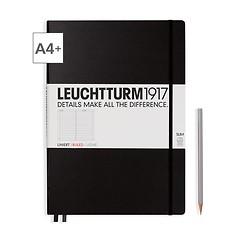 Notizbuch A4+ Master Slim Liniert Schwarz