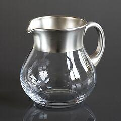 Krug mit Feinsilberrand 1,5 l Silber matt