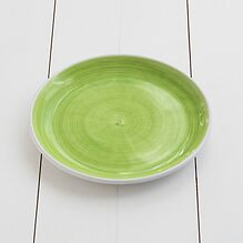 Ruggeri Mittlerer Teller Brushed Ø 26 cm Brushed Verde Mela