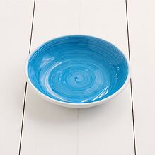 Ruggeri Brushed Azzurro Suppenteller  22 cm