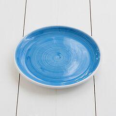 Ruggeri Mittlerer Teller Brushed Azzurro Ø 26 cm