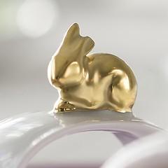 Hasen Serviettenringe Gold