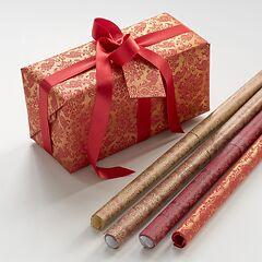 Geschenkpapier Tapisserie Goldserie (4 verschiedene Farben)