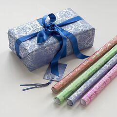Geschenkpapier Tapisserie Silberserie (4 verschiedene Farben)