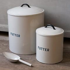 Futterbehälter aus Metall Klein