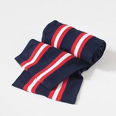 Englische College Schals Blau mit Rot-Weißen Streifen