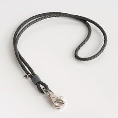 Schlüsselband aus Leder Grau