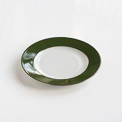 Porcelaine de Limoges Kleiner Teller Empiregrün