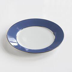 Porcelaine de Limoges Mittlerer Teller Französisch Blau