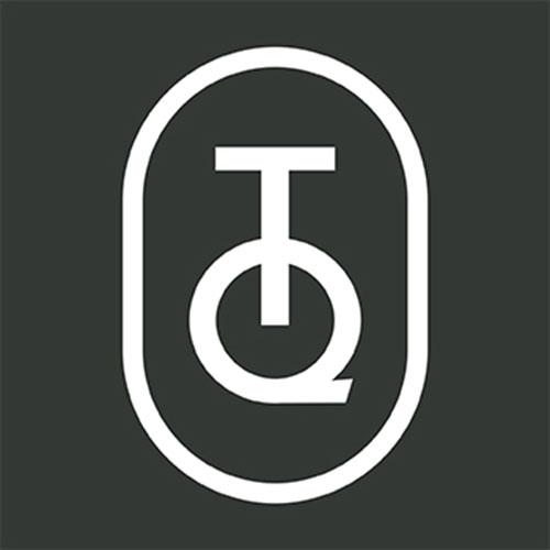 Geschirrtuch Paris en fleurs Orange Papaye