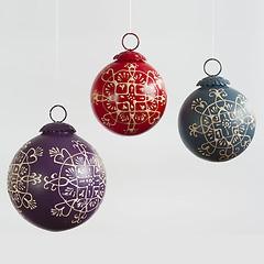 4 Weihnachtskugeln Ornament