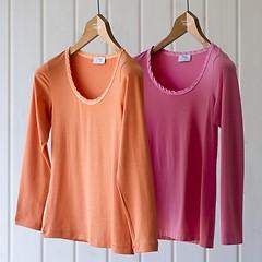 Langarm Shirt mit rundem Ausschnitt