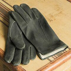 Handschuhe aus Rehleder Oliv