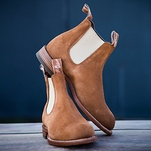 R.M. Williams Chelsea Boots Suede Braun