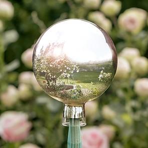 Silberne Rosenkugel Lauscha
