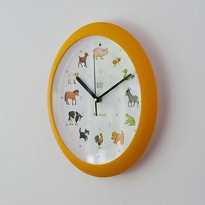Singende Uhr 'Bauernhof' Gelb