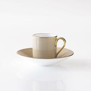 Porcelaine de Limoges Mokkatasse mit Golddekor Beige