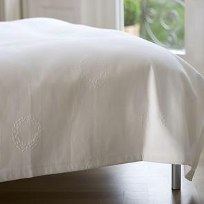 Torquato Bettüberwurf Kränze Weiß 180 x 260 cm