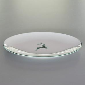 Grüner Hirsch Ovale Platte 38 x 31 cm