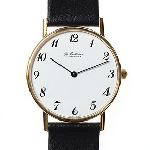 Ole Mathiesen Armbanduhr OM3 Edelstahl vergoldet