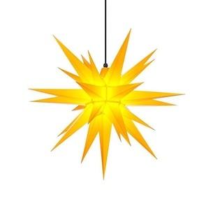 Herrnhuter Stern, Kunststoff Gelb