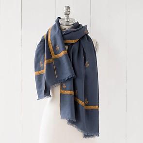 Kashmir Loom Schals 70 x 200 cm Pigeon Blue