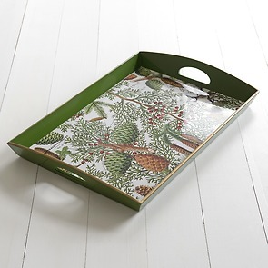 Decoupage Tablett Spruce