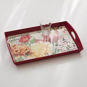 Decoupage Tablett Morning Blossom