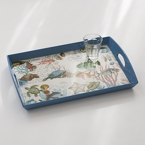 Decoupage Tablett Sea Life