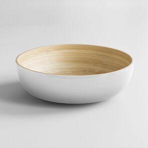 Salatschüssel Bambus XL Weiß