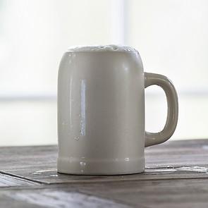 6 Steingut Bierkrüge 'Kannenbäcker'