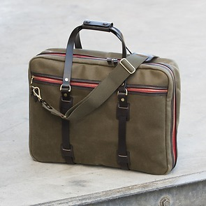 Croots Vintage Canvas Flight Bag Olive