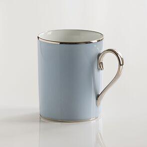 Porcelaine de Limoges Frühstücksbecher Eisblau